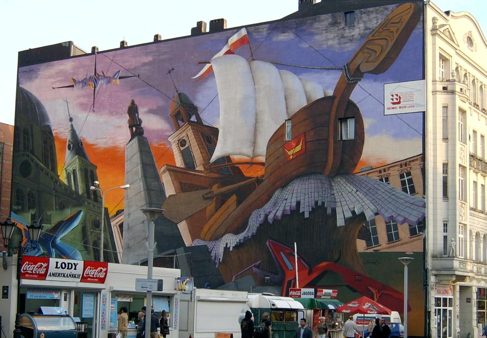 Mural przy piotrkowskiej wikipedia wolna encyklopedia for Mural na tamie w solinie