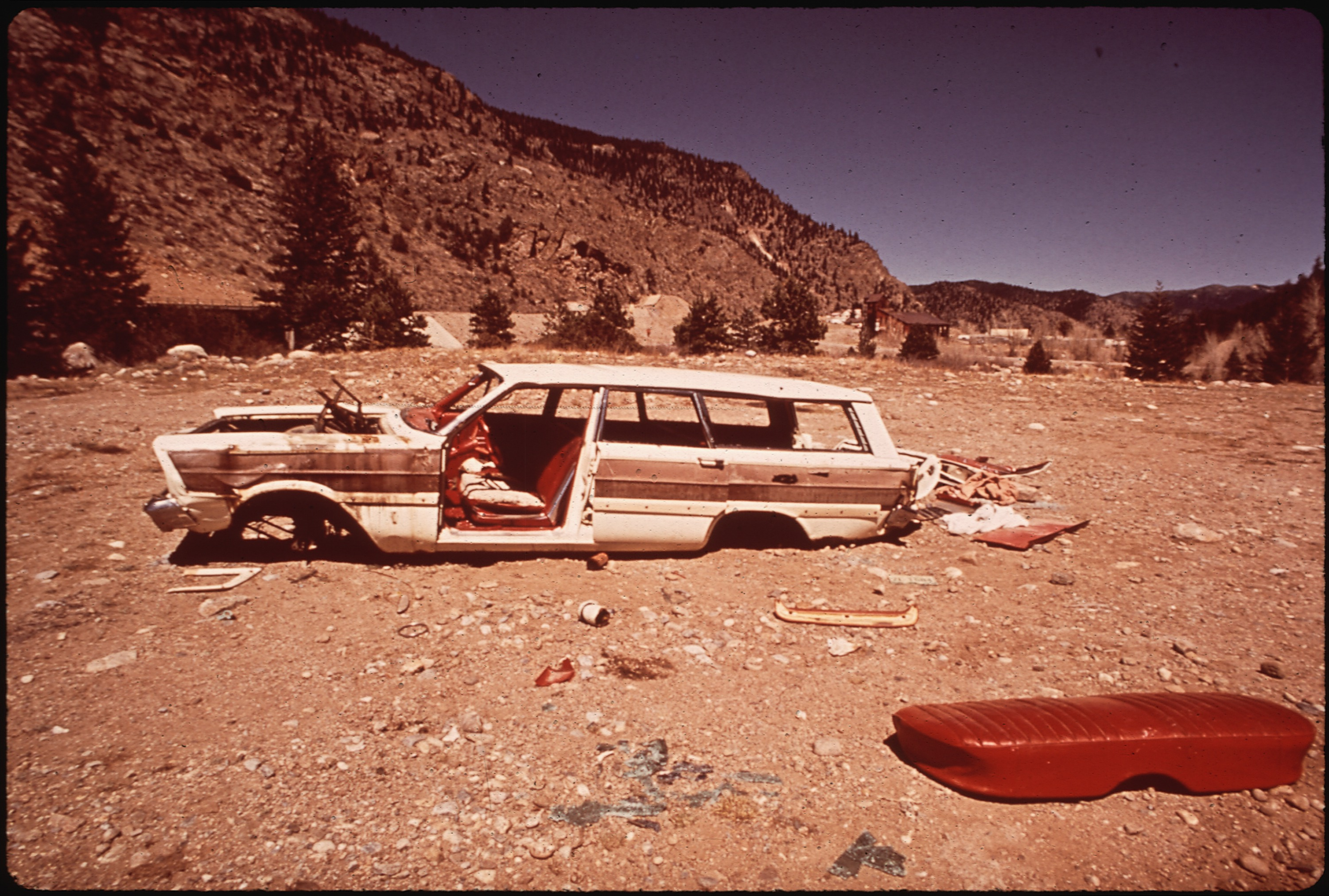 File Abandoned Car In Clear Creek Canyon Near Dumont