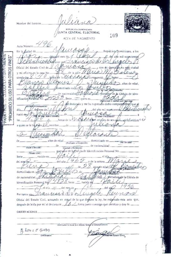 Archivo:Acta de Nacimiento Juliana Deguis Pierre.png - Wikipedia, la ...