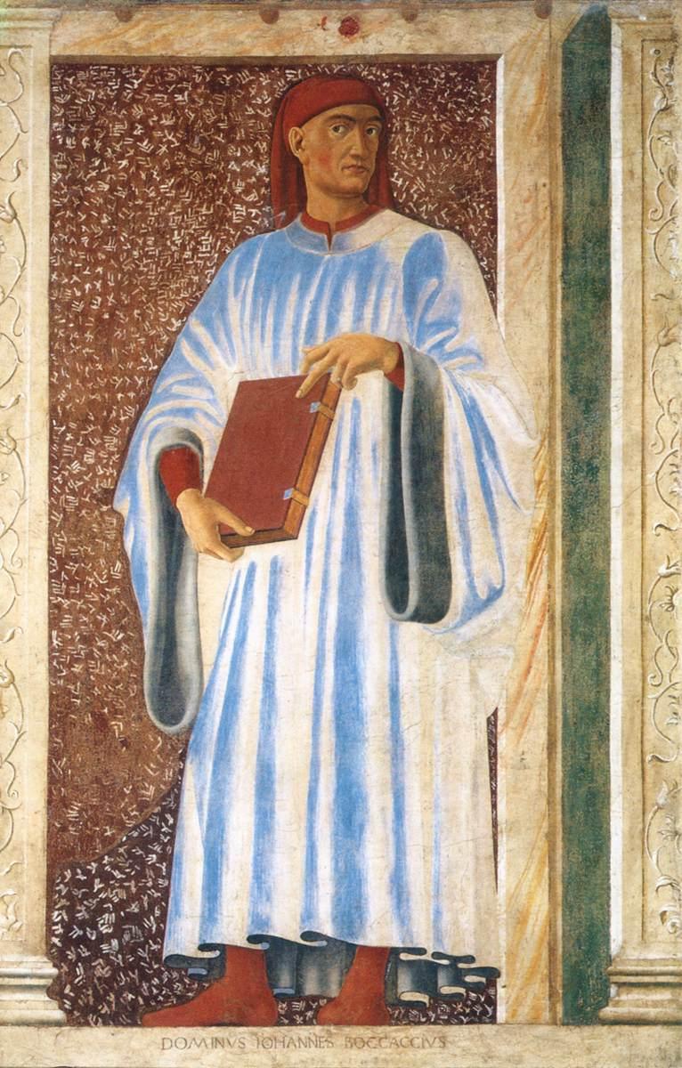 Portrait of Boccaccio, Andrea del Castagno, murals Villa Carducci.
