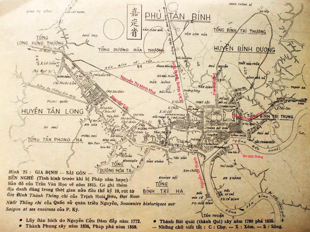 Bản đồ Sài Gòn năm 1815