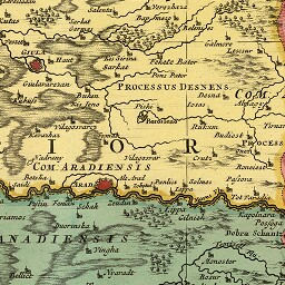 Arad on an 18th-century map