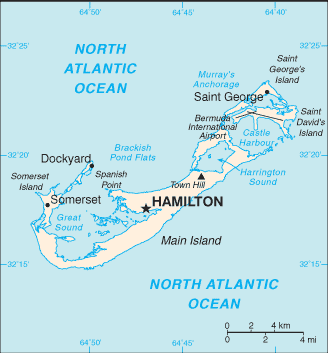 List Of Islands Of Bermuda Wikipedia - Bermuda islands map