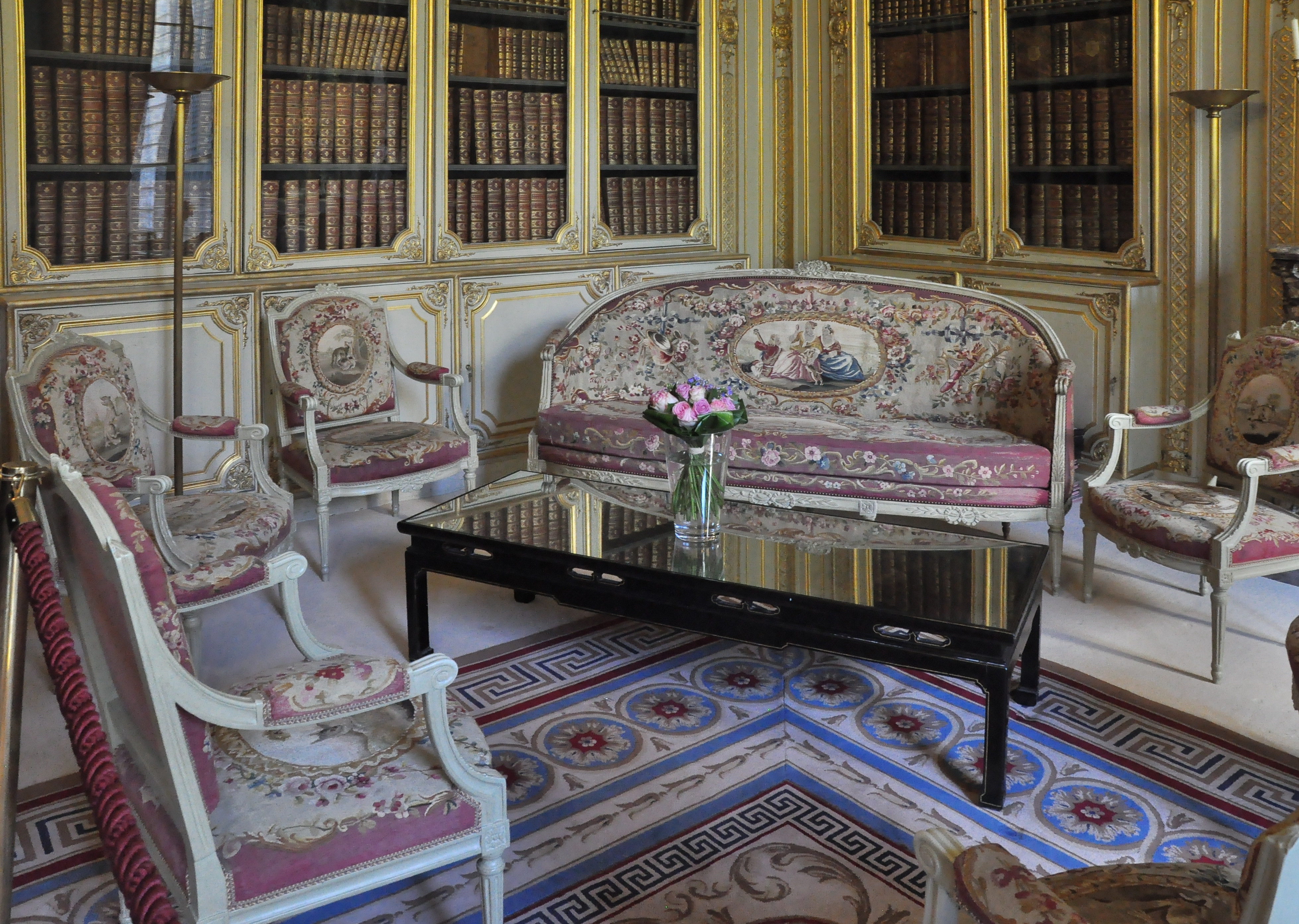 Armchairs And Canape With Aubusson Tapestry Upholstery Hotel De Bourvallais Now Ministry Of Justice