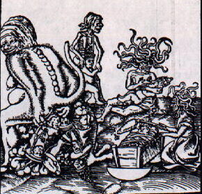 Birth and Origin of the Pope by Lucas Cranach