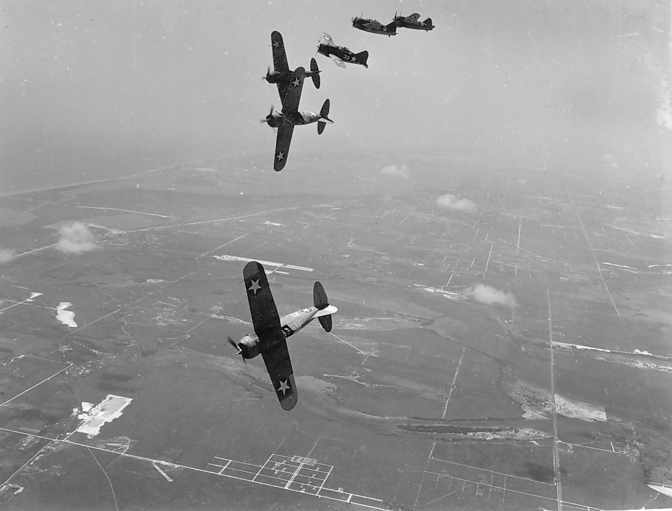 A Place for Pictures Brewster_F2A-3_Buffalos_USN_training_unit_NAN11-90