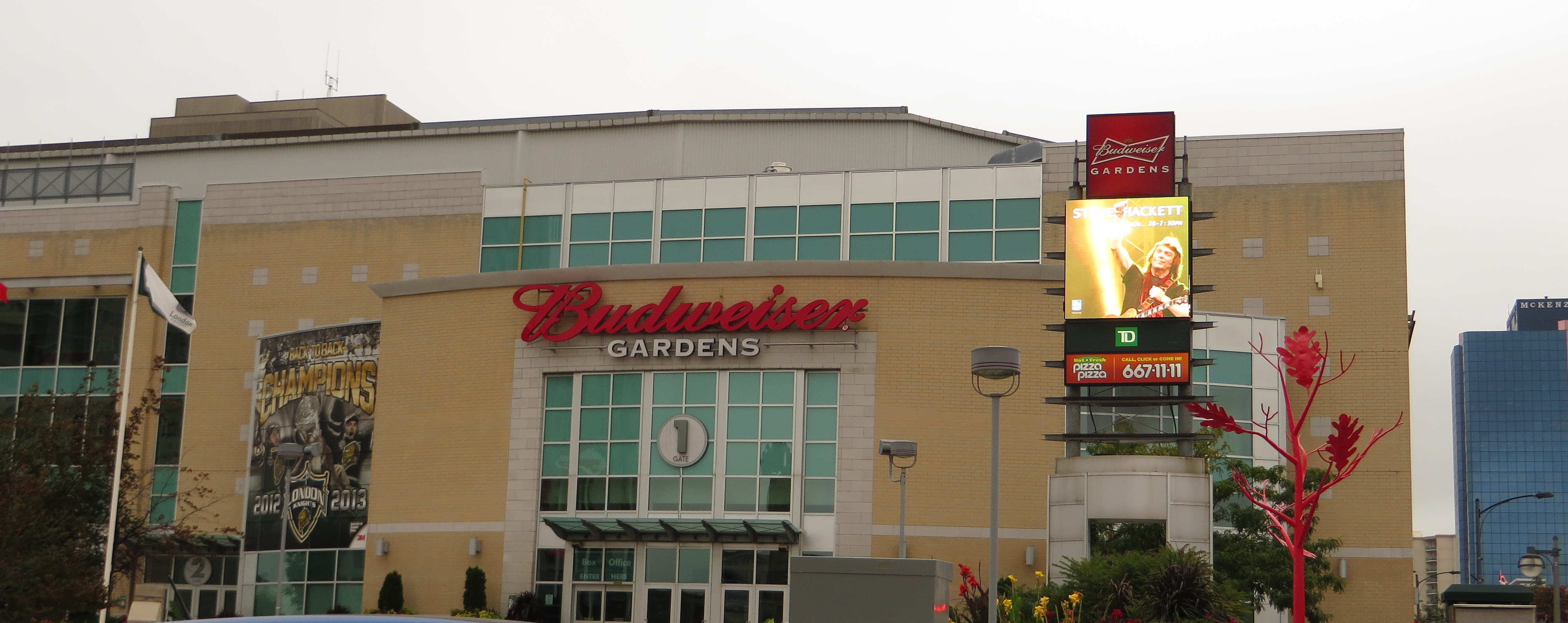 Budweiser Gardens During The Day