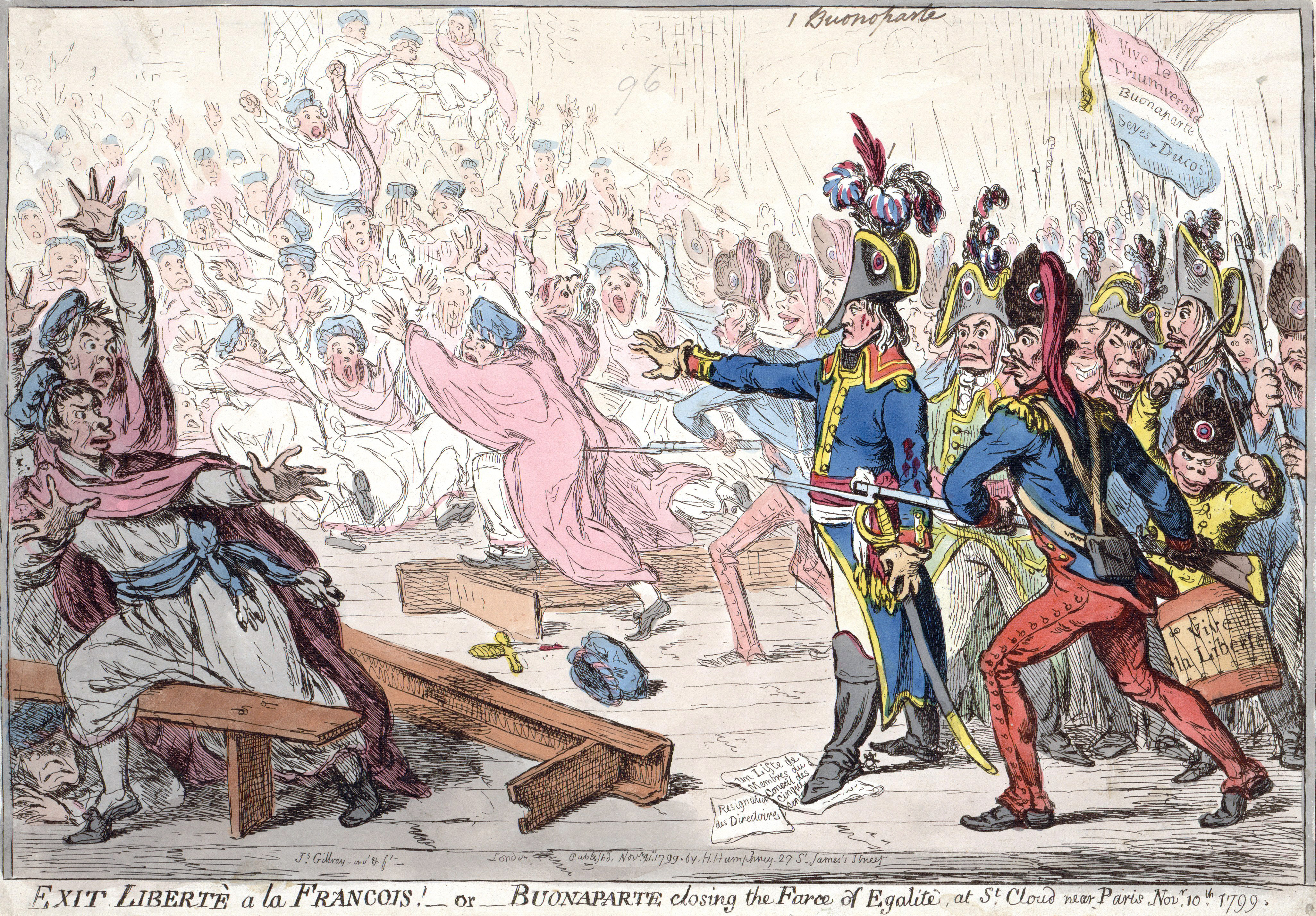 Gillray's caricature of the 18 Brumaire coup