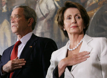 George Walker Bush, Nancy Pelosi. Croped versi...