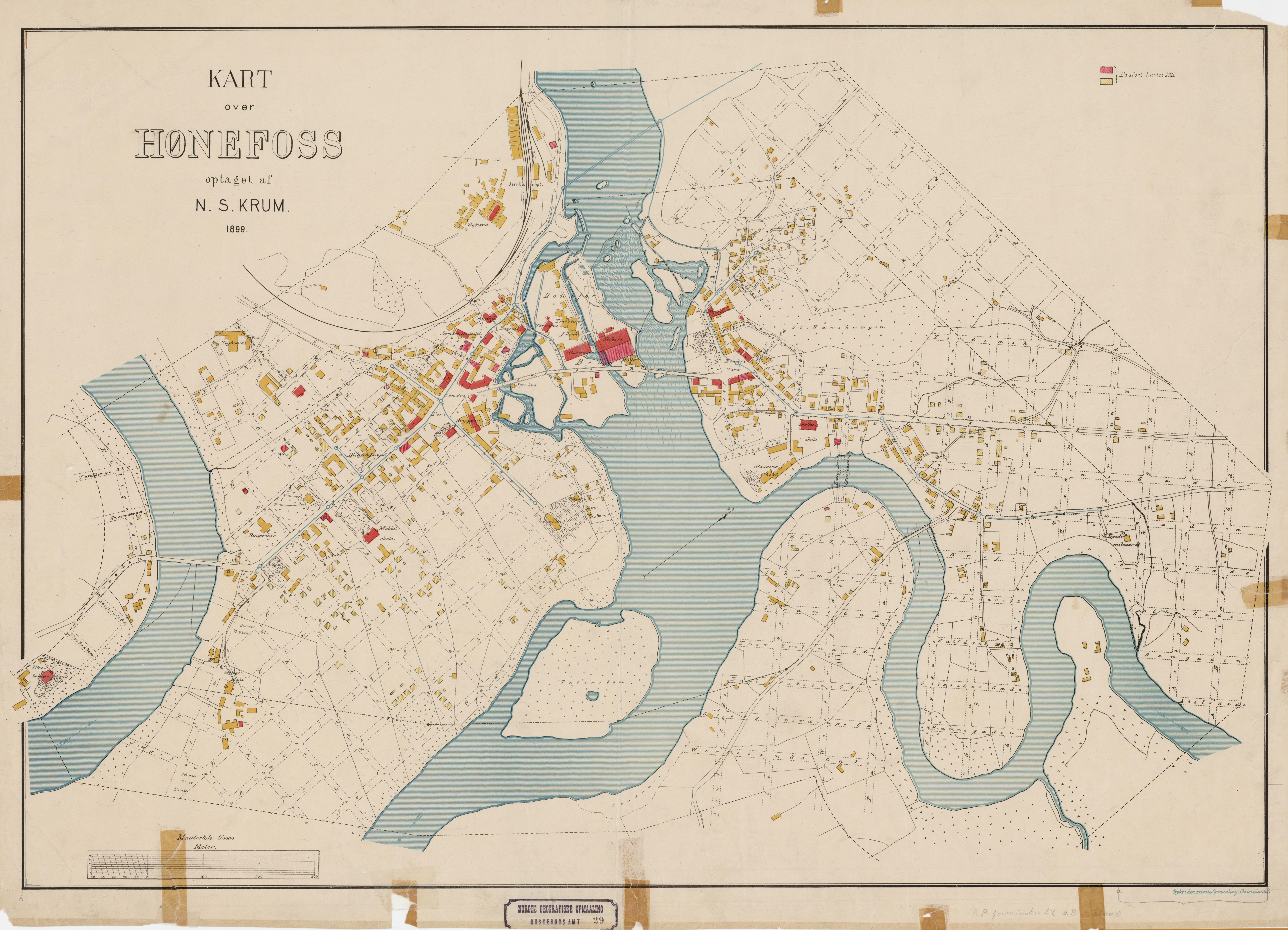 hønefoss kart File:Buskerud amt nr 29  Kart over Hønefoss, 1899.   Wikimedia  hønefoss kart