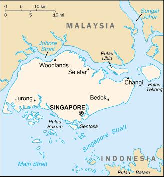 Resultado de imagen de singapur, cia map