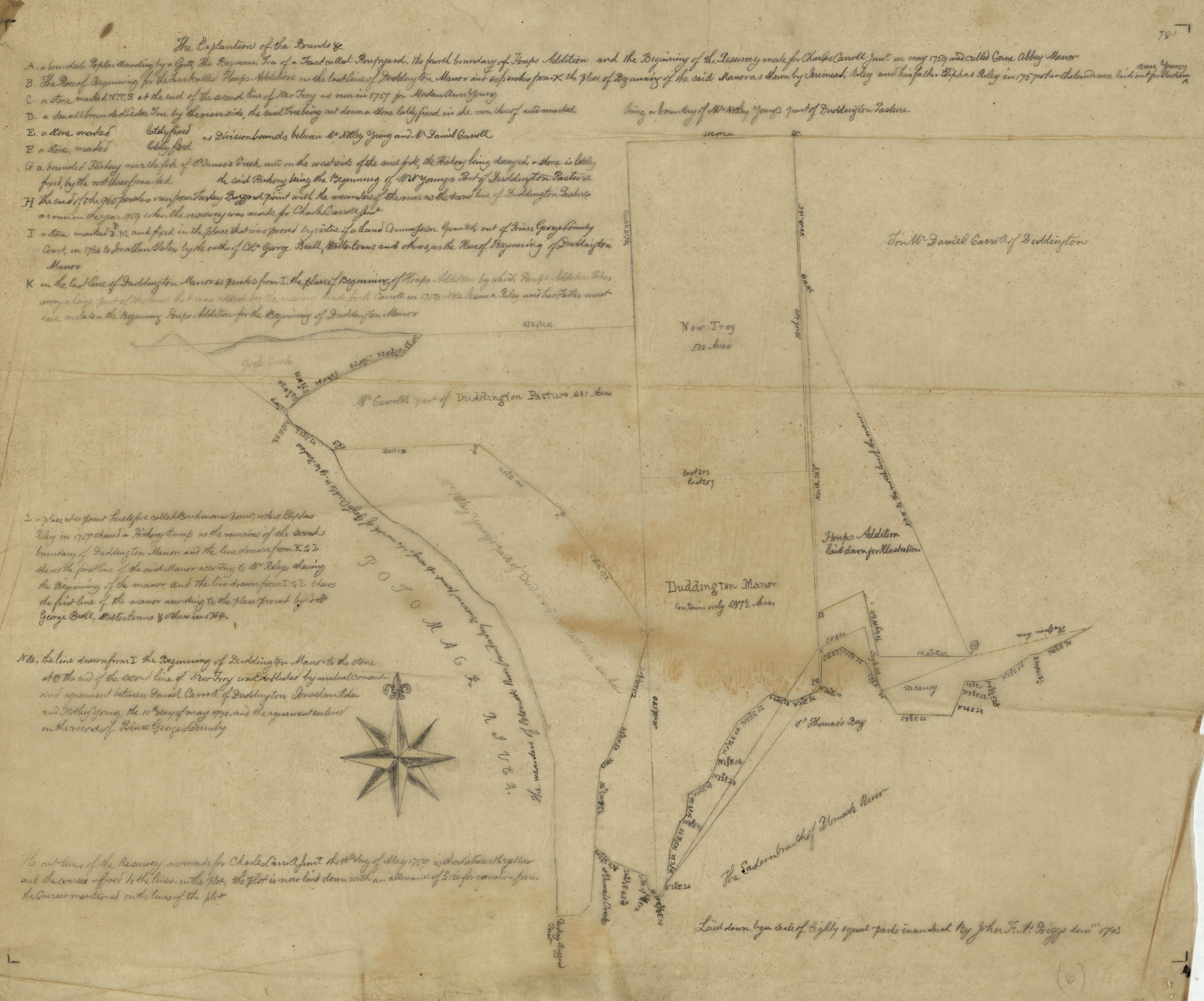 File:Cadastral survey map of Charles Carroll Jr 's land in