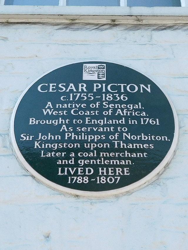 Photo of Cesar Picton black plaque