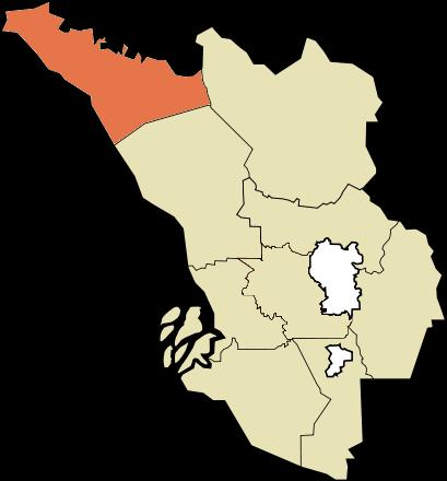Location of Sabak Bernam district, Selangor, MALAYSIA