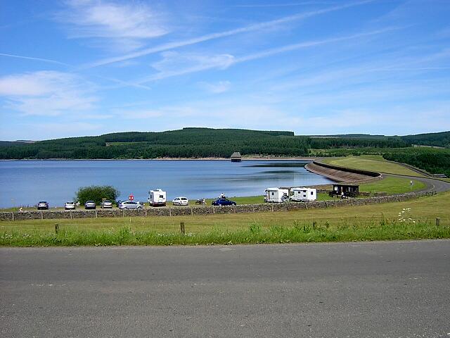 Dam at Kielder Water - geograph.org.uk - 204539