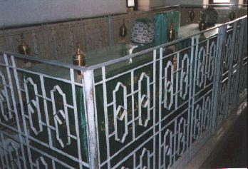 Tomb of Egyptian saint Dhul-Nun al-Misri (AD 796-859) in Cairo's City of the Dead. Dhulnun tomb.jpg