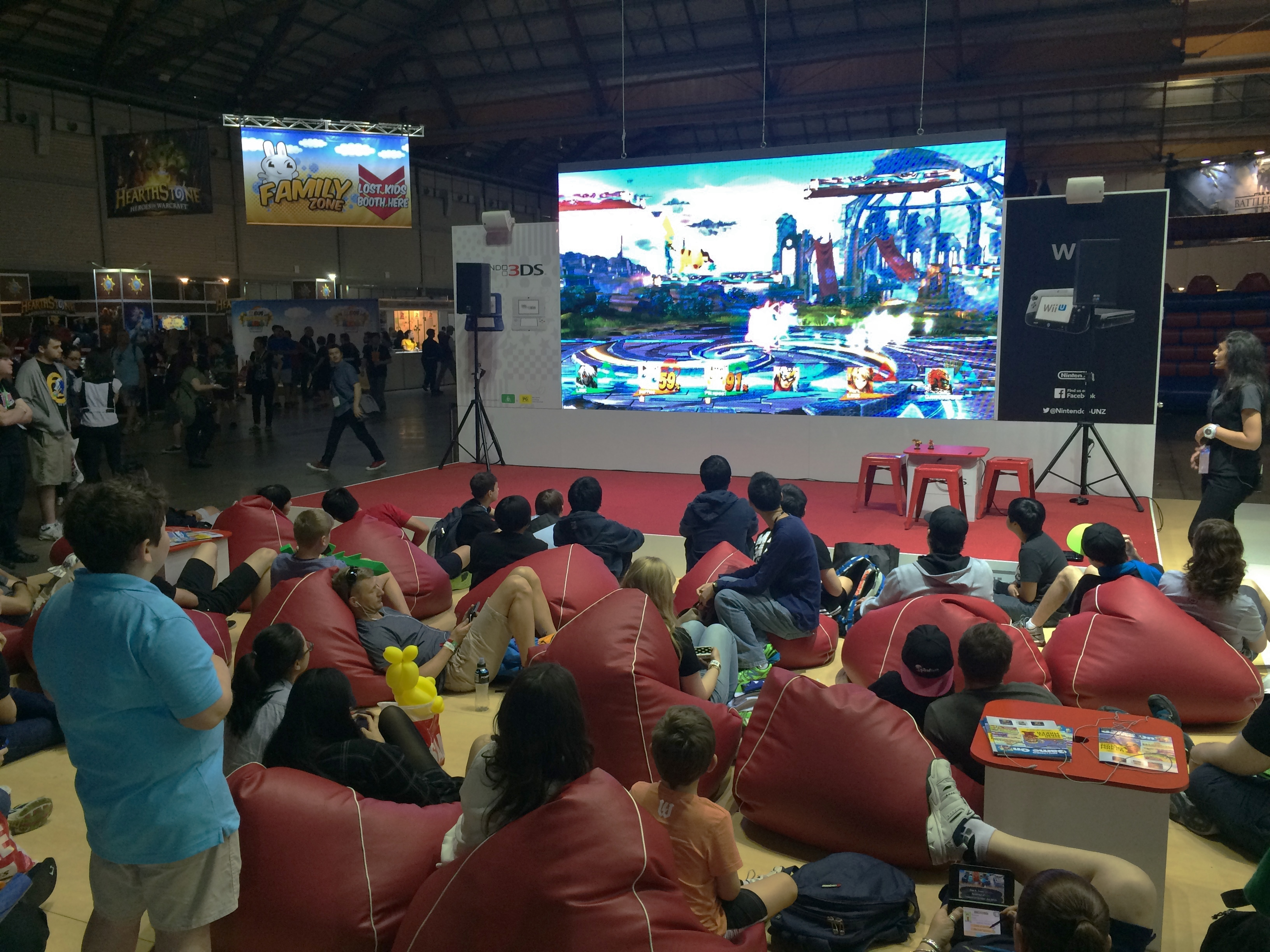 fileeb games expo 2015 super smash bros nintendo stage
