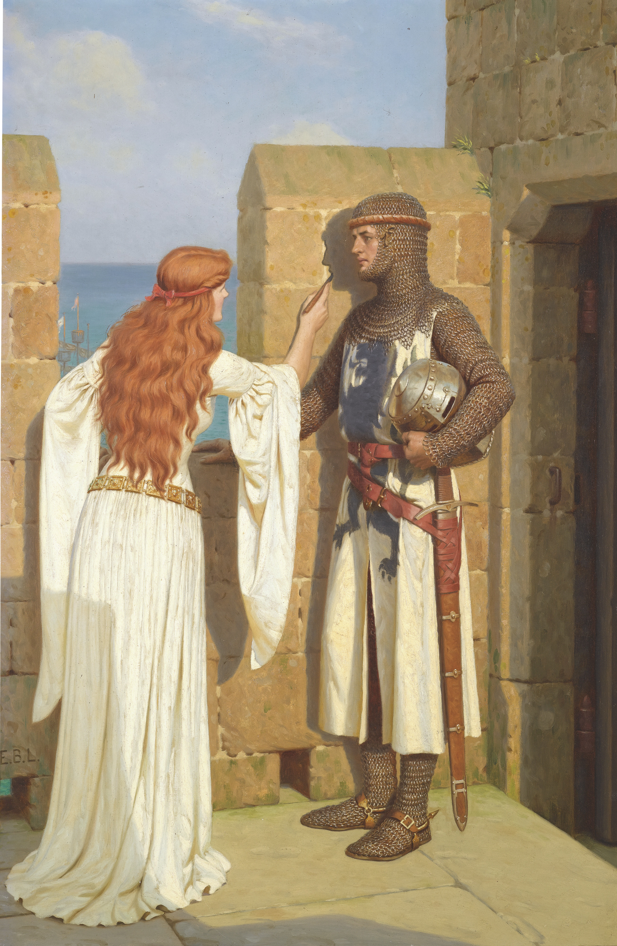 'The Shadow' by Edmund Leighton [Public domain]