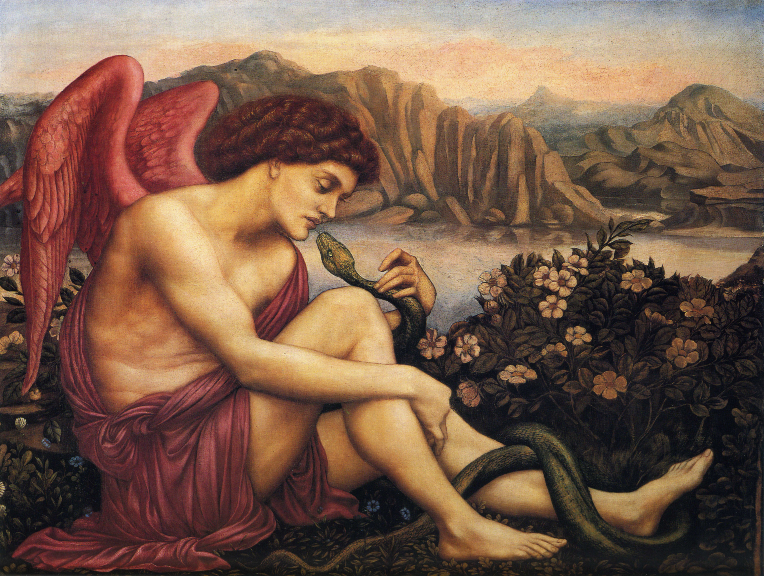 File:Evelyn de Morgan - The Angel with the Serpent, 1870-1875.jpg -  Wikimedia Commons