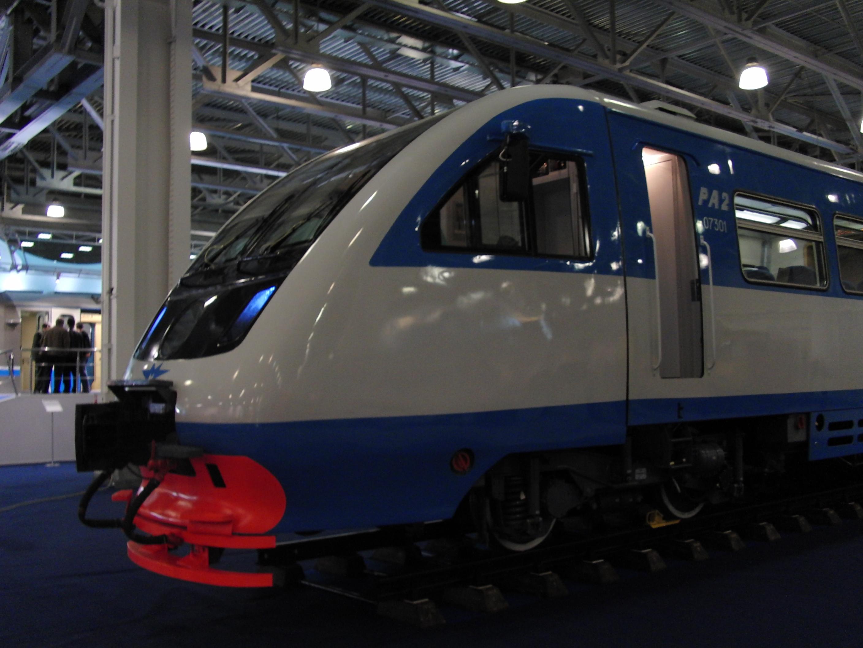 Expocitytrans 2010, Moscow Metro and Metrovagonmash pavilion, RA-2 railbus (5021070018).jpg