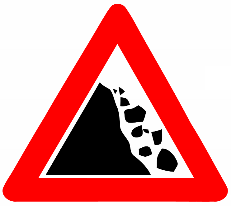 Image result for falling rocks