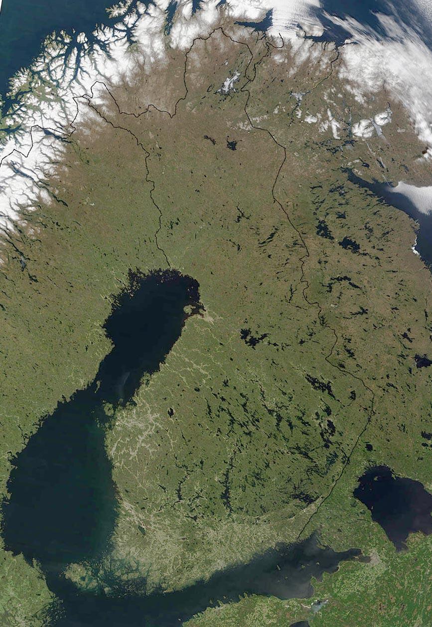 Finnland Satelliten-Karte