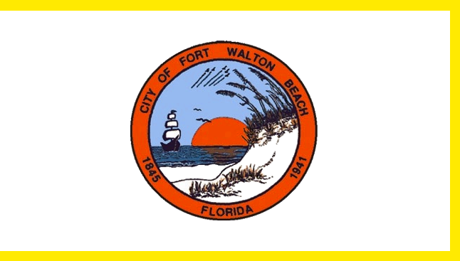 File Flag Of Fort Walton Beach Florida Png