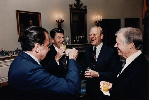 File:Four Presidents, Reagan, Carter, Ford, Nixon 1981.jpg