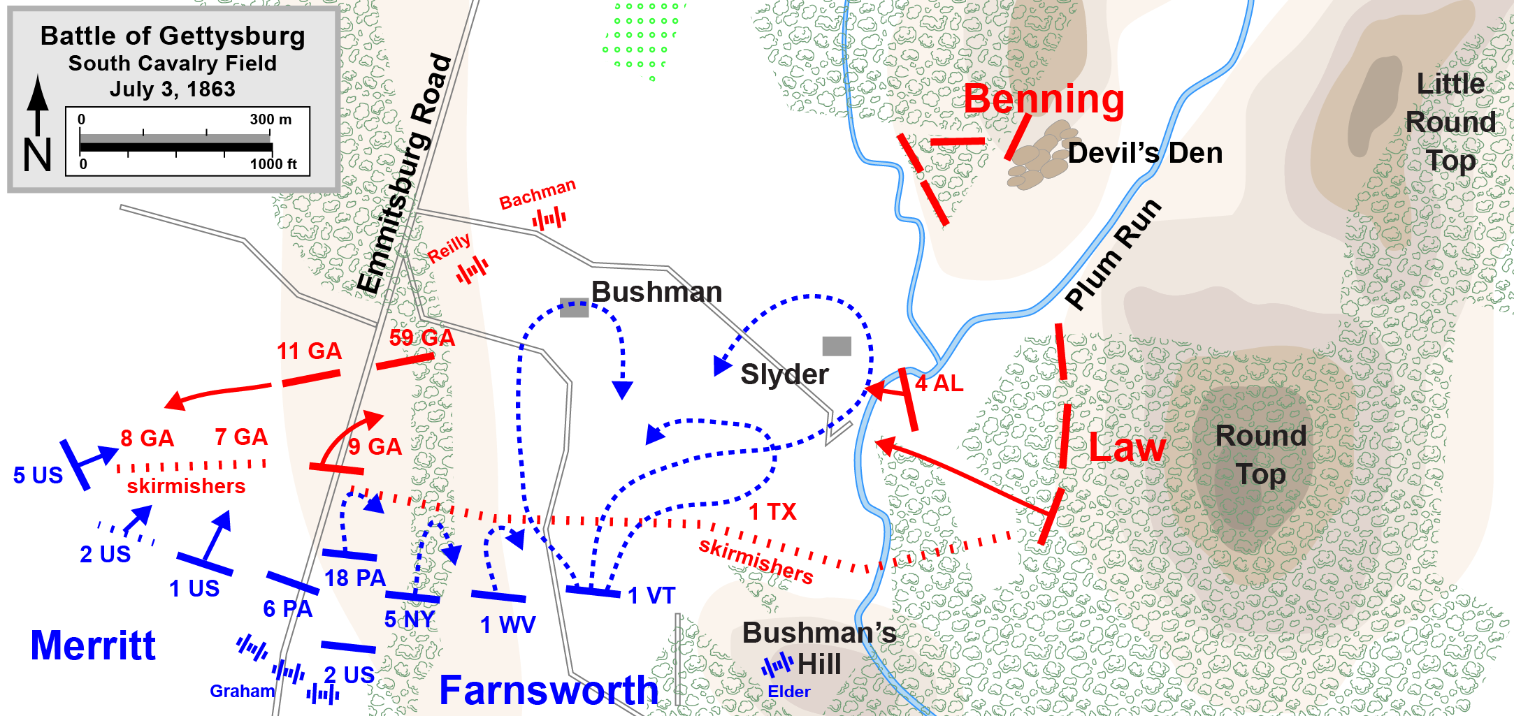 FileGettysburg South Cavalry Fieldpng Wikimedia Commons - Gettysburg on us map