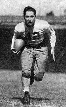 College Football Hall of Fame inductee Marshall Goldberg was the runner-up for the Heisman Trophy in 1938 Goldberg Owl1939pg279.jpg