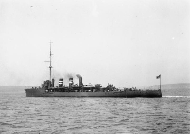 HMS Amphion in august 1914.