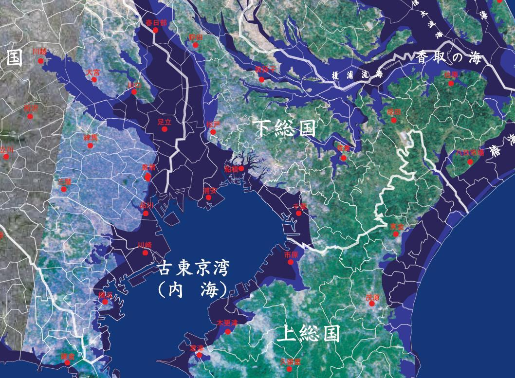 Tokyo Bay Map : 日本 地形 地図 : 日本