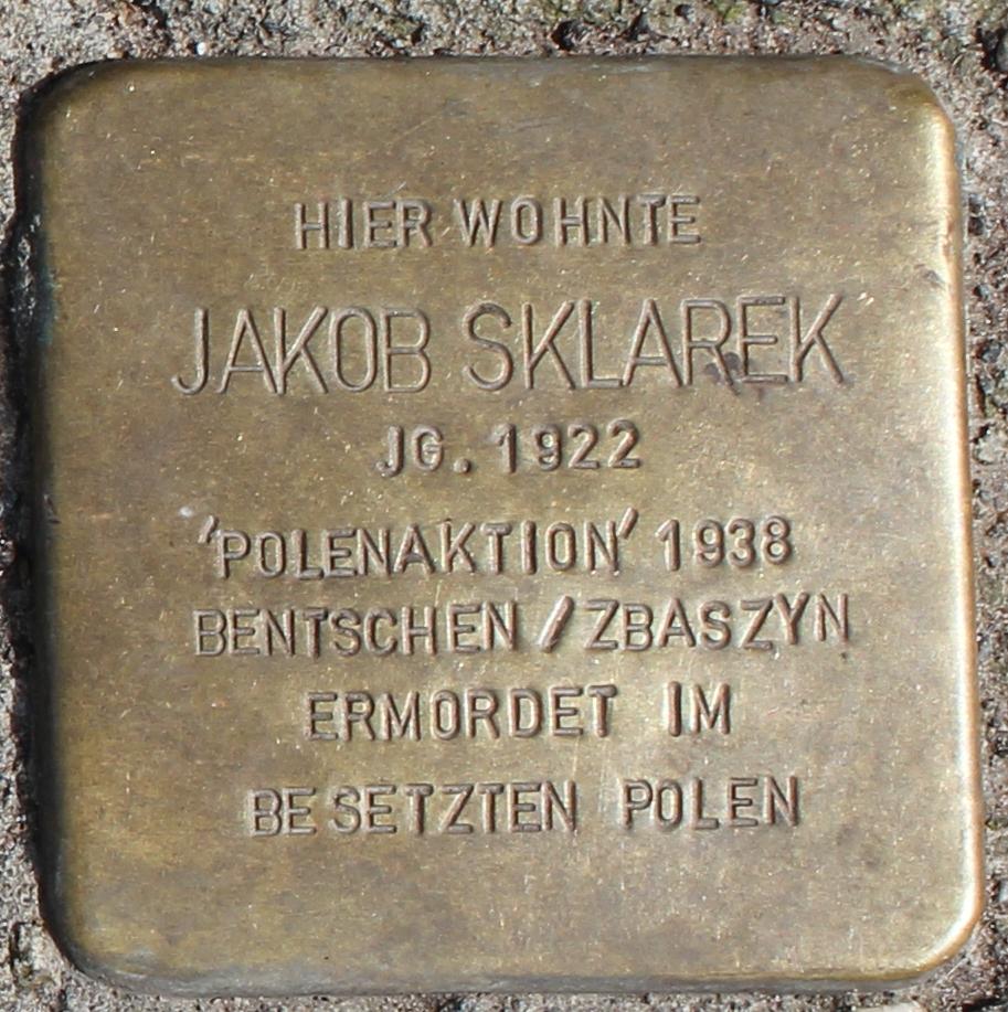 Stolperstein für Jakob Sklarek
