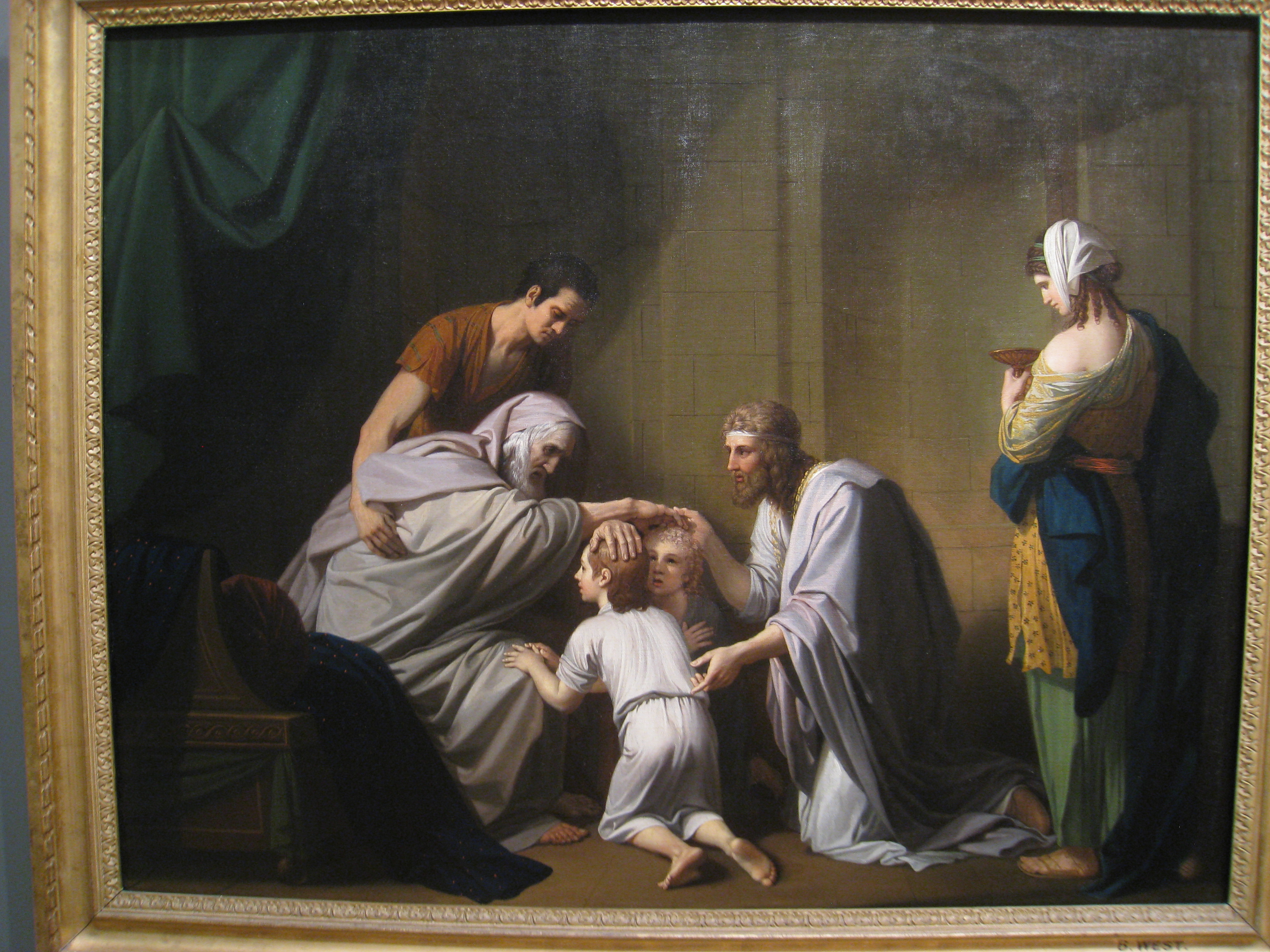 File:Jacob Blessing Ephraim and Manasseh, by Benjamin West.jpg ...