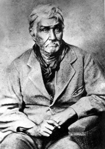 Jesse Chisholm, a mixed blood Cherokee, pioneered cattle drives through the Cherokee Outlet.