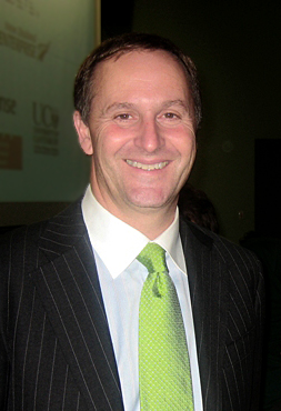 John Key, leader of the New Zealand National P...