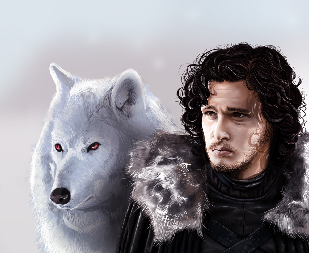 https://upload.wikimedia.org/wikipedia/commons/2/29/Jon_Snow_and_Ghost.jpg