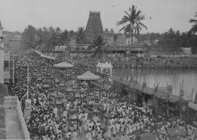 File:Kapalisvar temple festival in mayilai circa 1940.jpg