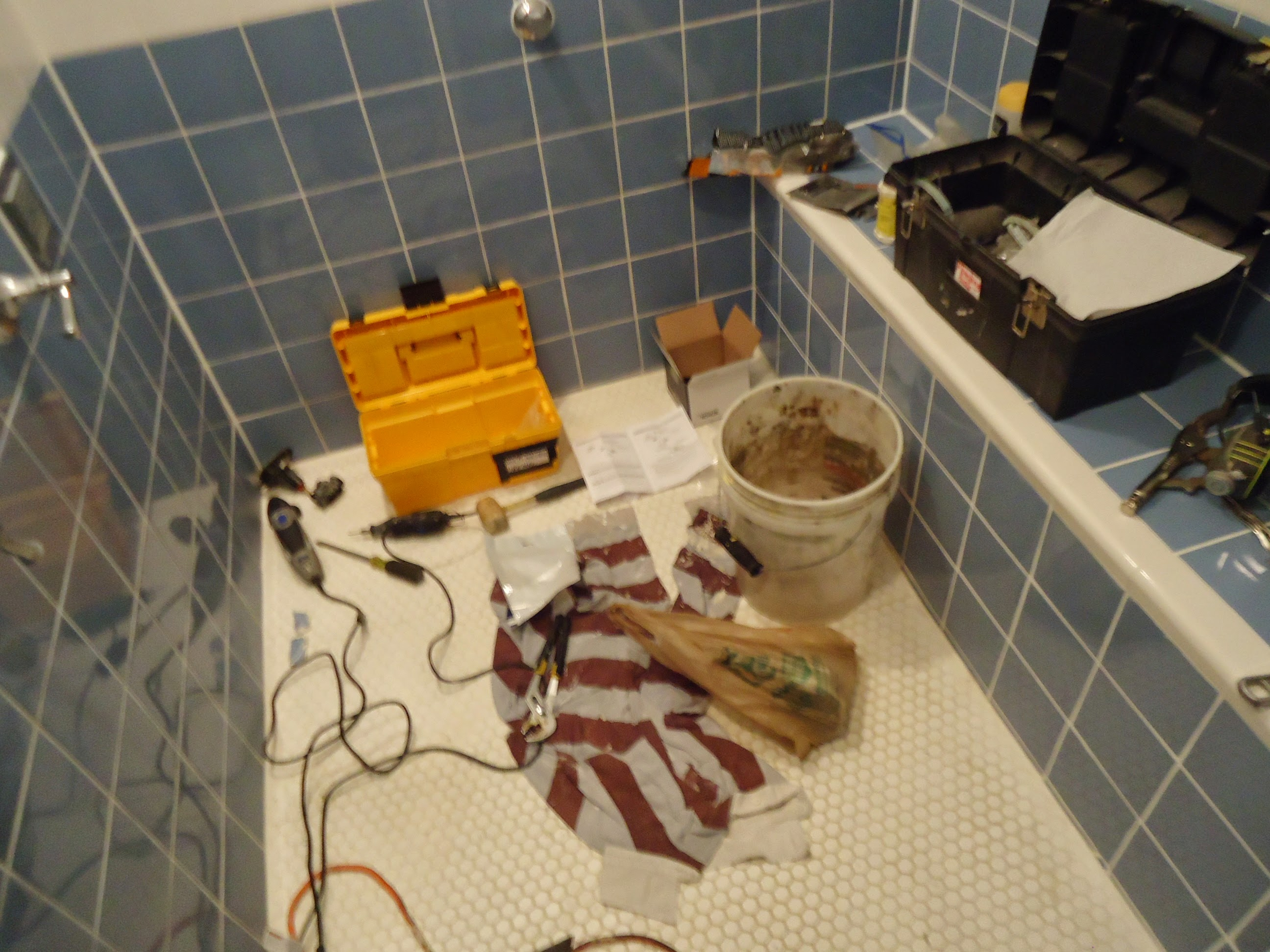 filekohler shower valve replacement tools on floor of showerjpg