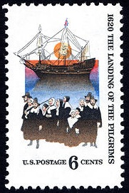 Landing of Pilgrims 1970 U.S. stamp.1