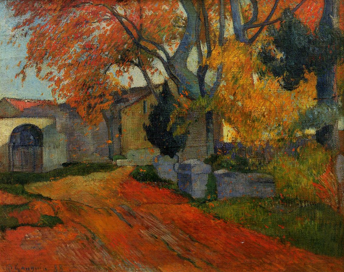 File:Lane at Alchamps, Arles 1888 Paul Gauguin.jpg ...