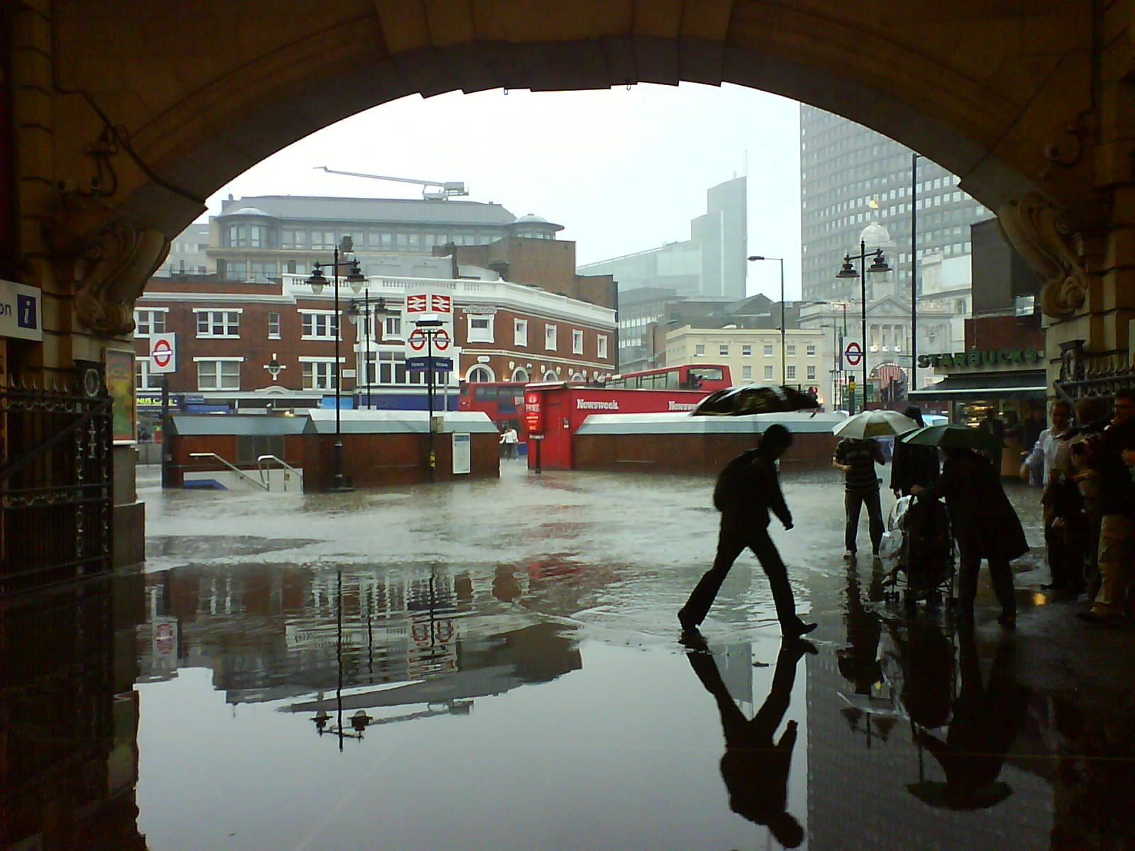 Victoria Station Flooding