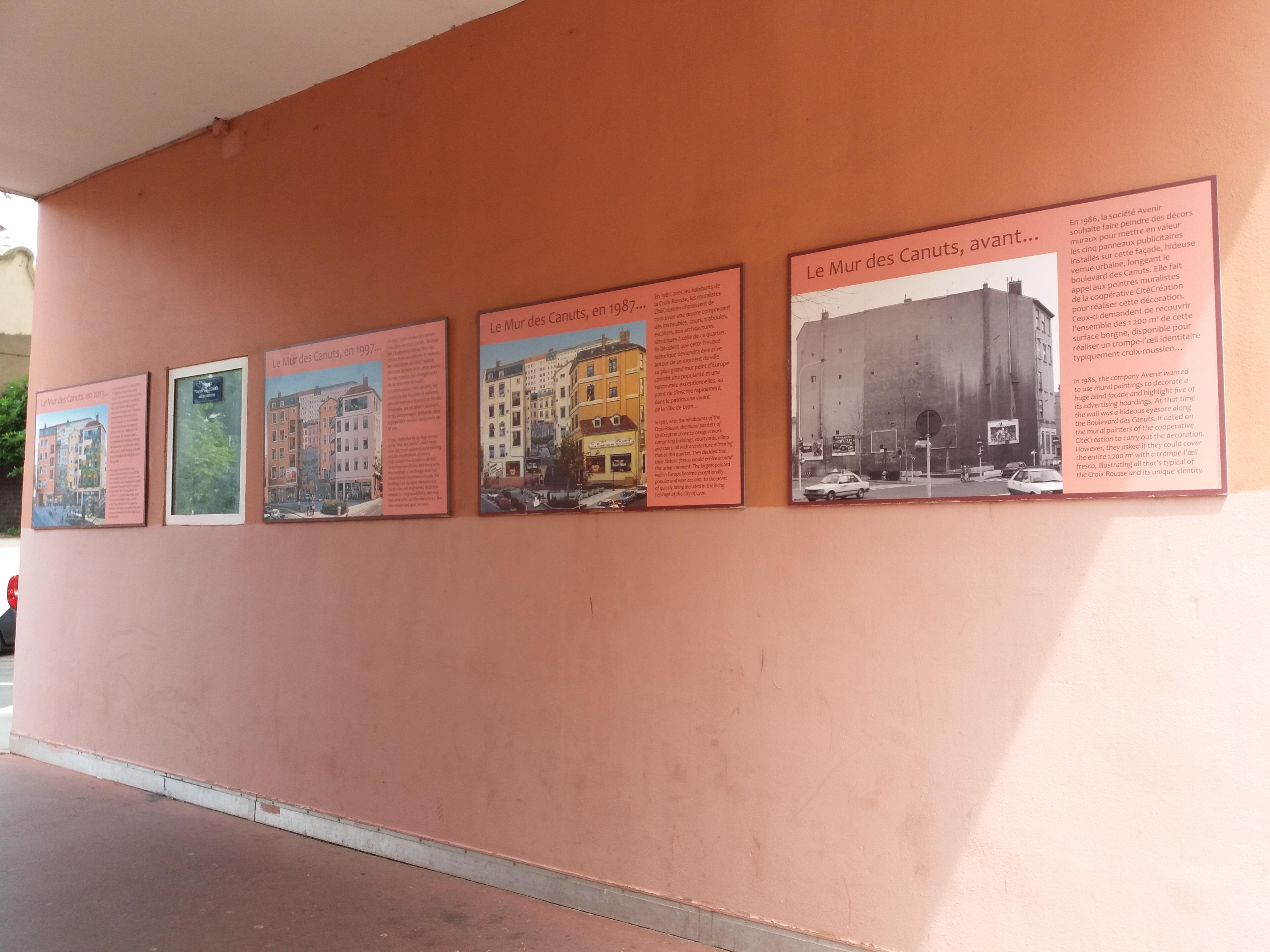 Peindre Une Fresque Sur Un Mur file:lyon 4e - traboule cormier - panneaux sur le mur des