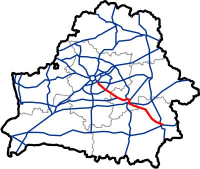Схема магистрали М5 / E271