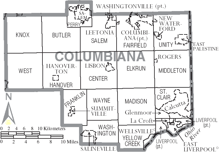 File Map Of Columbiana County Ohio With Municipal And Township