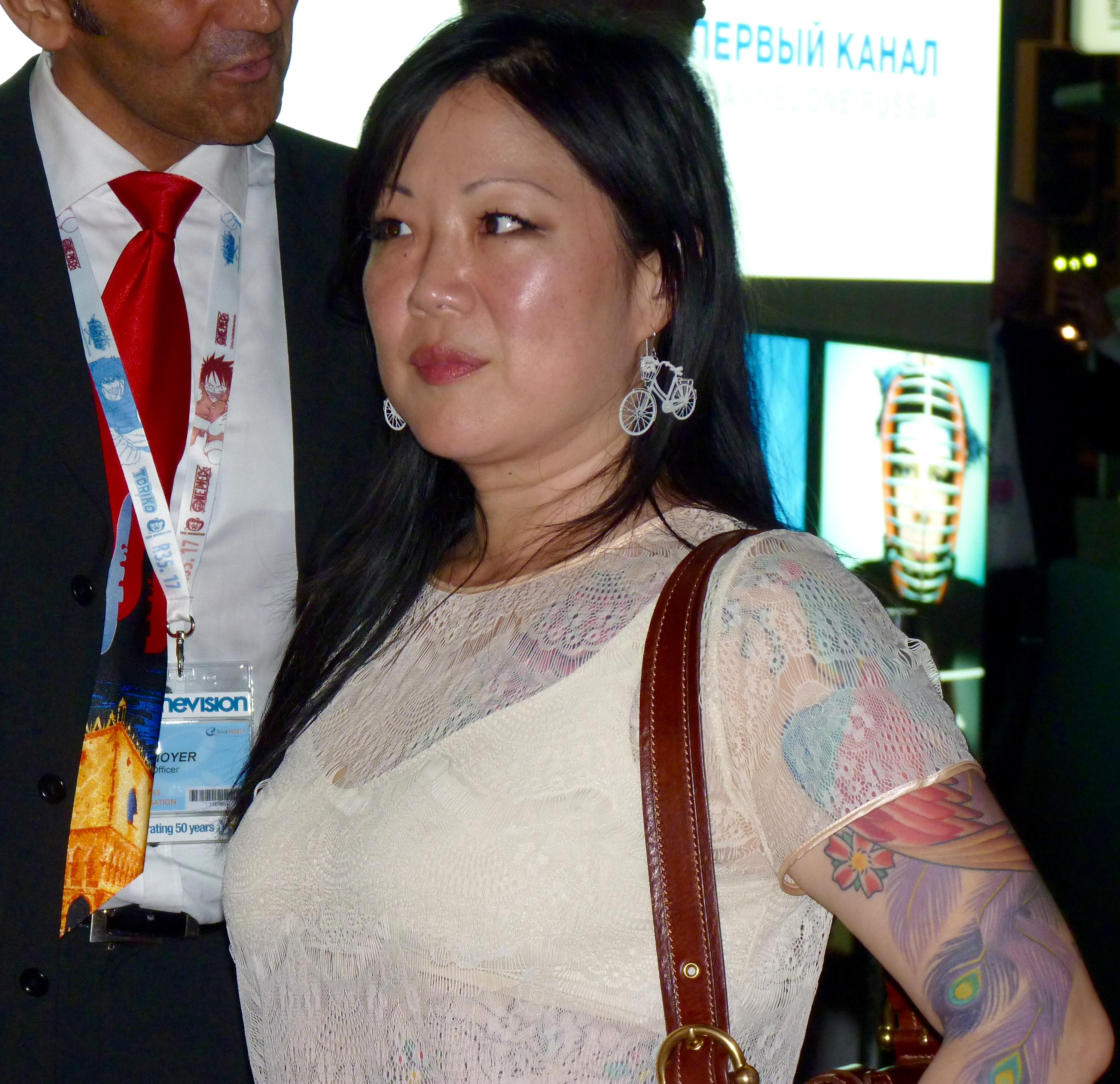 Die 49 Jahre alte, 165 cm große Margaret Cho in 2018 Foto