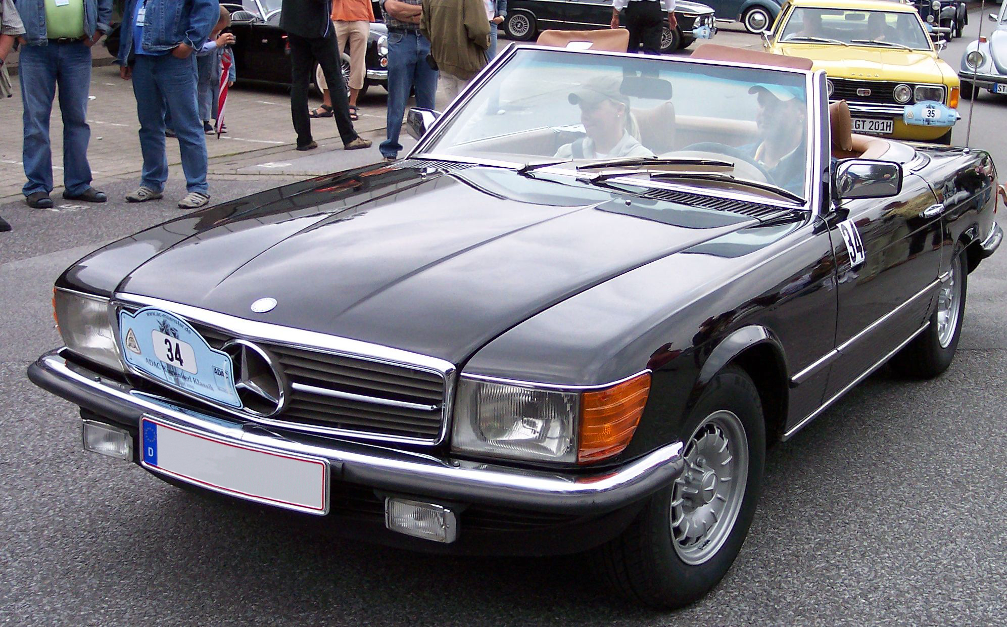 File mercedes benz 450 sl brown wikimedia commons for Mercedes benz 450