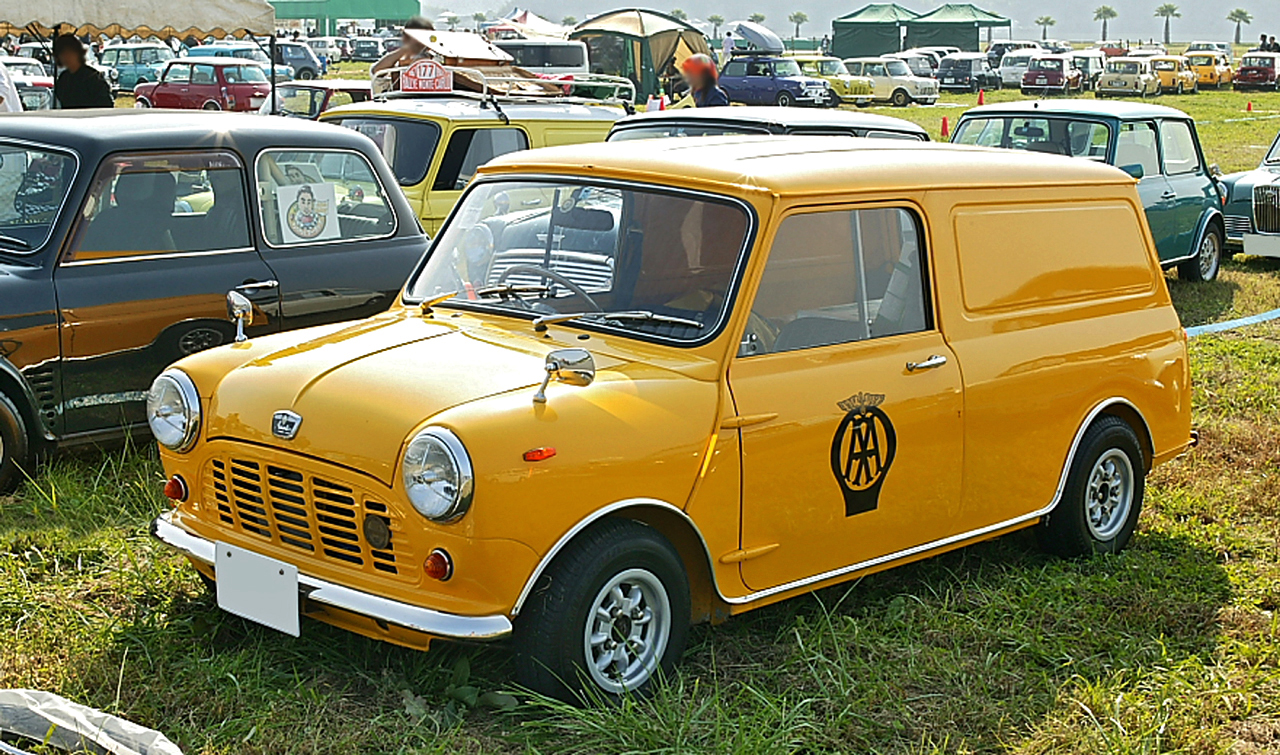 Austin Mini Van in The Automobile Association livery