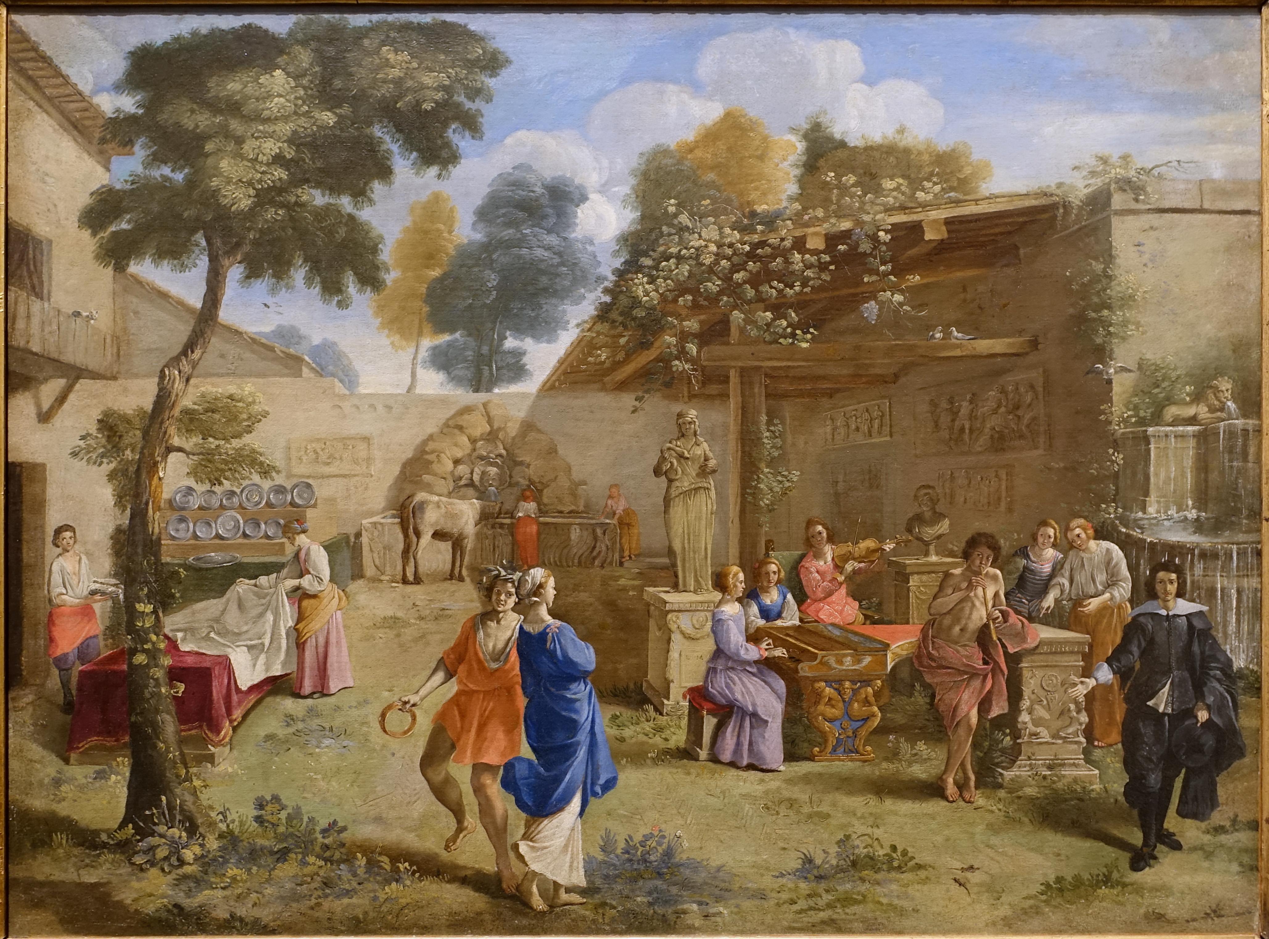 File:Musical Party in a Garden, by Giovanni Battista Passeri, 1640s ...
