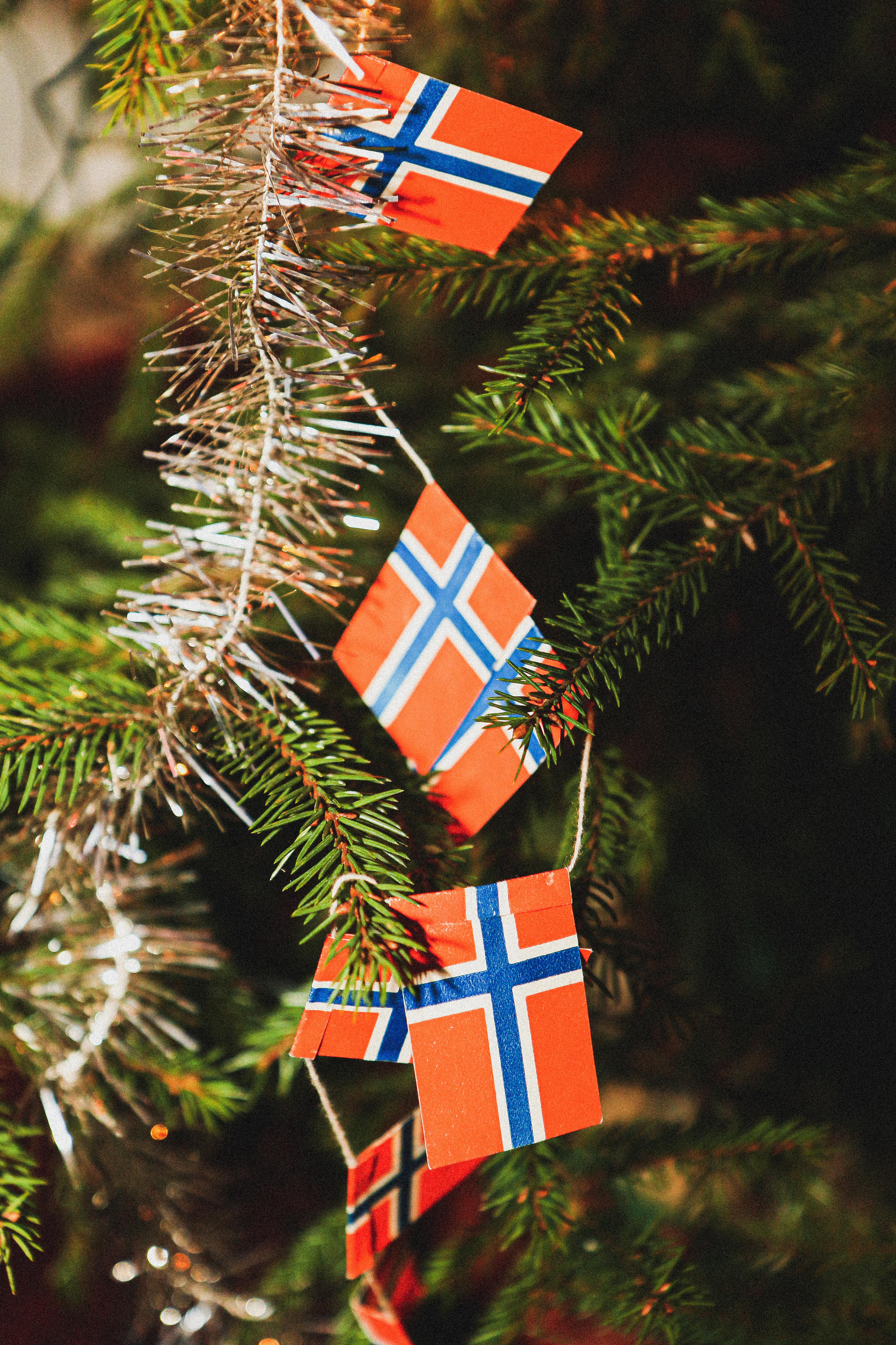 File:Norwegian flags on Christmas tree.jpg - Wikimedia Commons